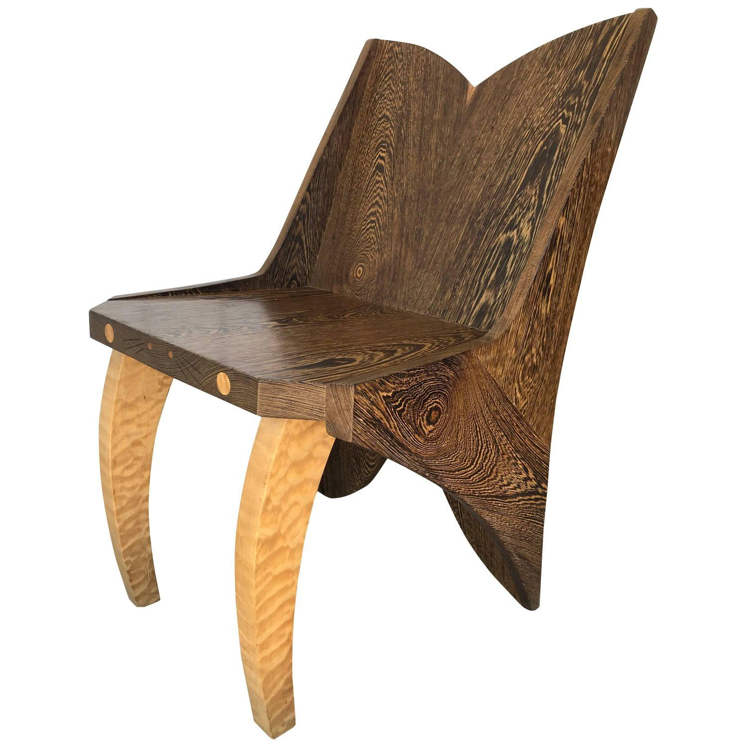 Butterfly solid wenge and zebra wood chair my stdibs favorites