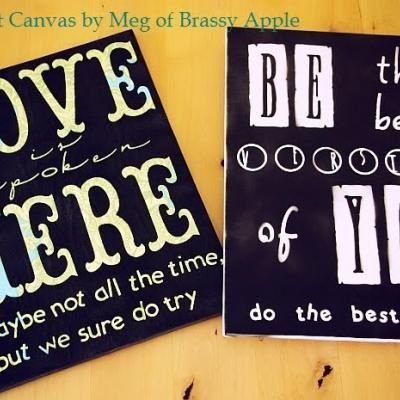 Cricut Canvas Tutorial {Cricut} | Cricut projects | Diy canvas, Diy