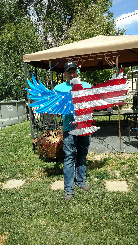 American Flag Sculpture Etsy Handmade