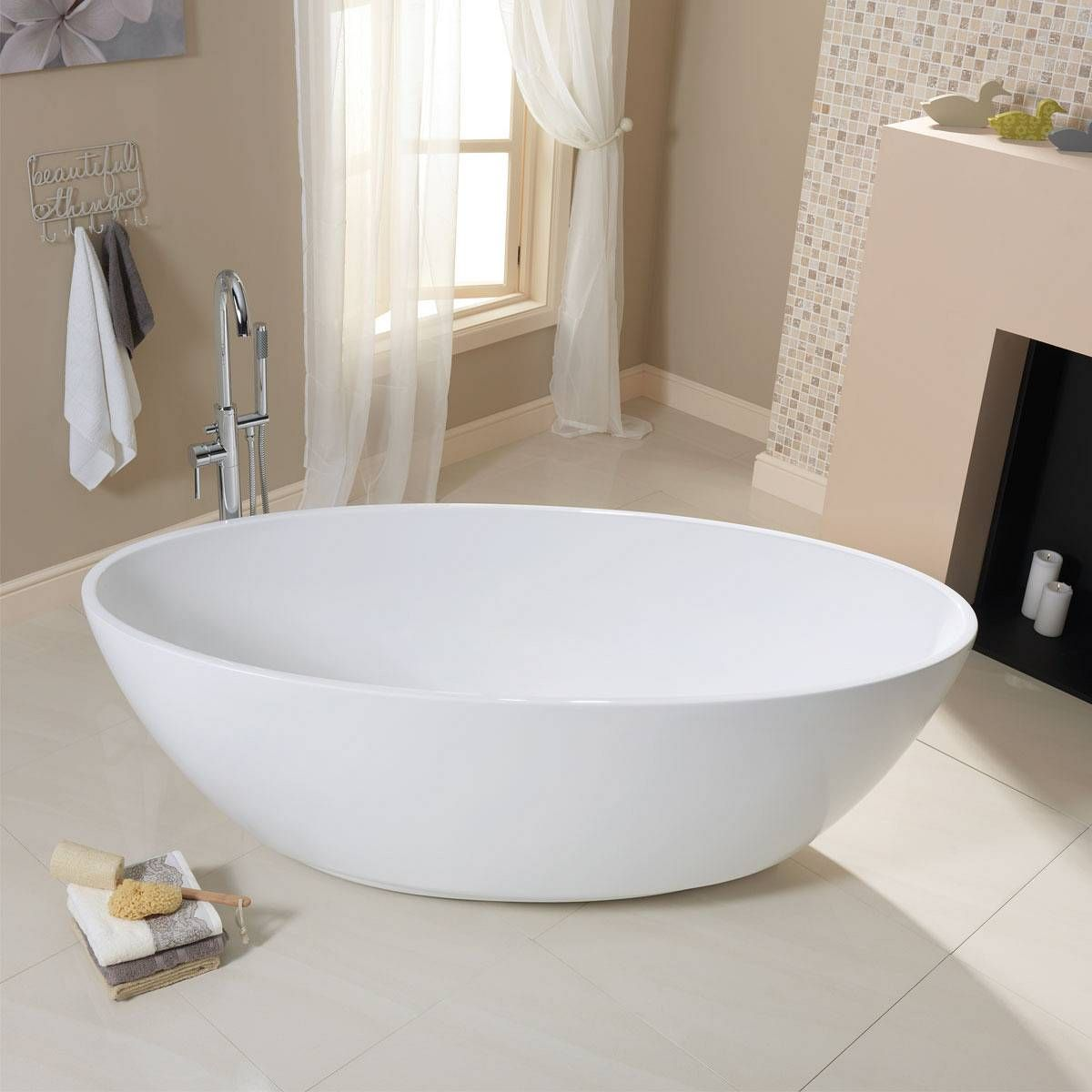 Bathroom Accessories Victoria Plumb harrison roll top bath - looks like an egg! £399 from victoria