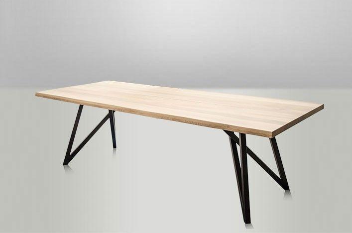 Brick Designer Esstisch Holz Metall Industriedesign Esstisch