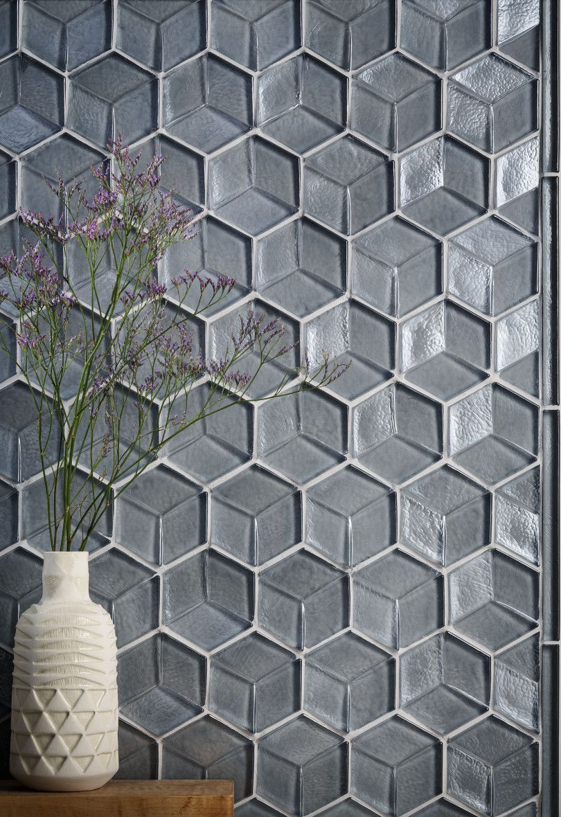 Gl Tile Interior Design Tozen Feature Wall Backsplash Hexagon Agate Martini Dimensional Bathroom