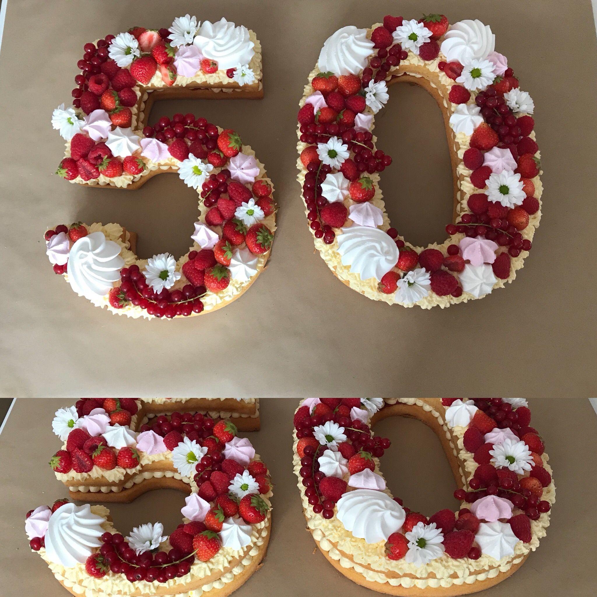 Numbercake Zum 50 Geburtstag Geburtstag Kuchen 50 Geburtstag
