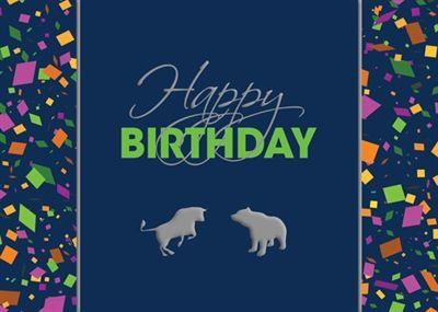 Financial Birthday Card Silver Confetti Birthday – Wall Street Birthday Cards