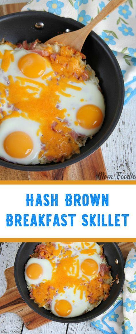 Hash Brown Breakfast Skillet Recipe #breakfast #eggs