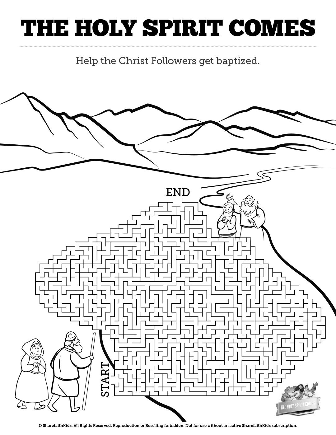 Acts 2 The Holy Spirit Comes Bible Mazes Featuring