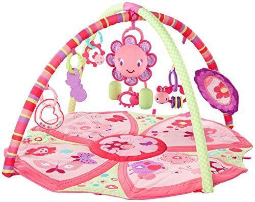 Bright Starts Giggle Garden Activity Gym Pretty Pink Baby Soft Comfy Play Mat Baby Activity Gym Bright Starts Baby Play Mat