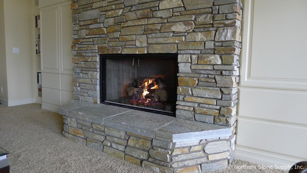 Stone veneer fireplace stone honey ledge stone for Stonecraft fireplaces
