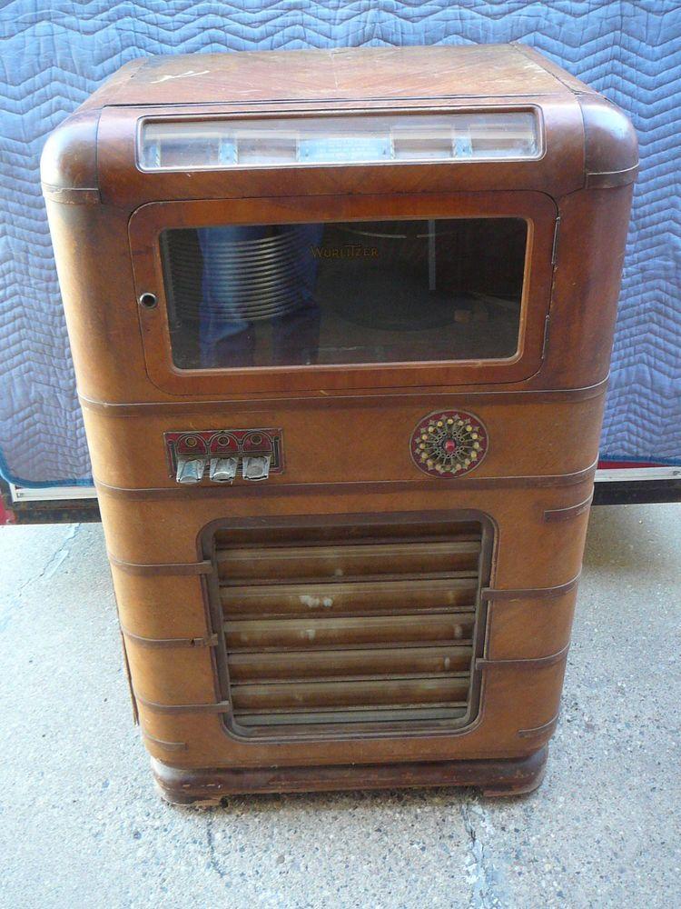 1937 Wurlitzer 616 Jukebox 16 selection 78rpm Juke Box Light Up Grill with Coin  #Wurlitzer
