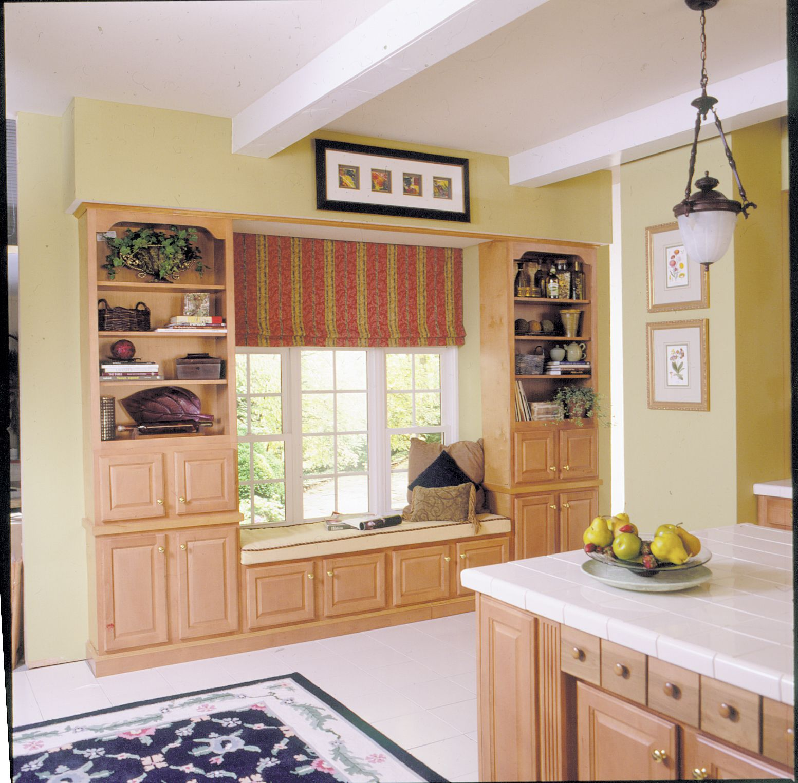 Window kitchen cabinets  how to build a window seat  house love  laundry room  pinterest