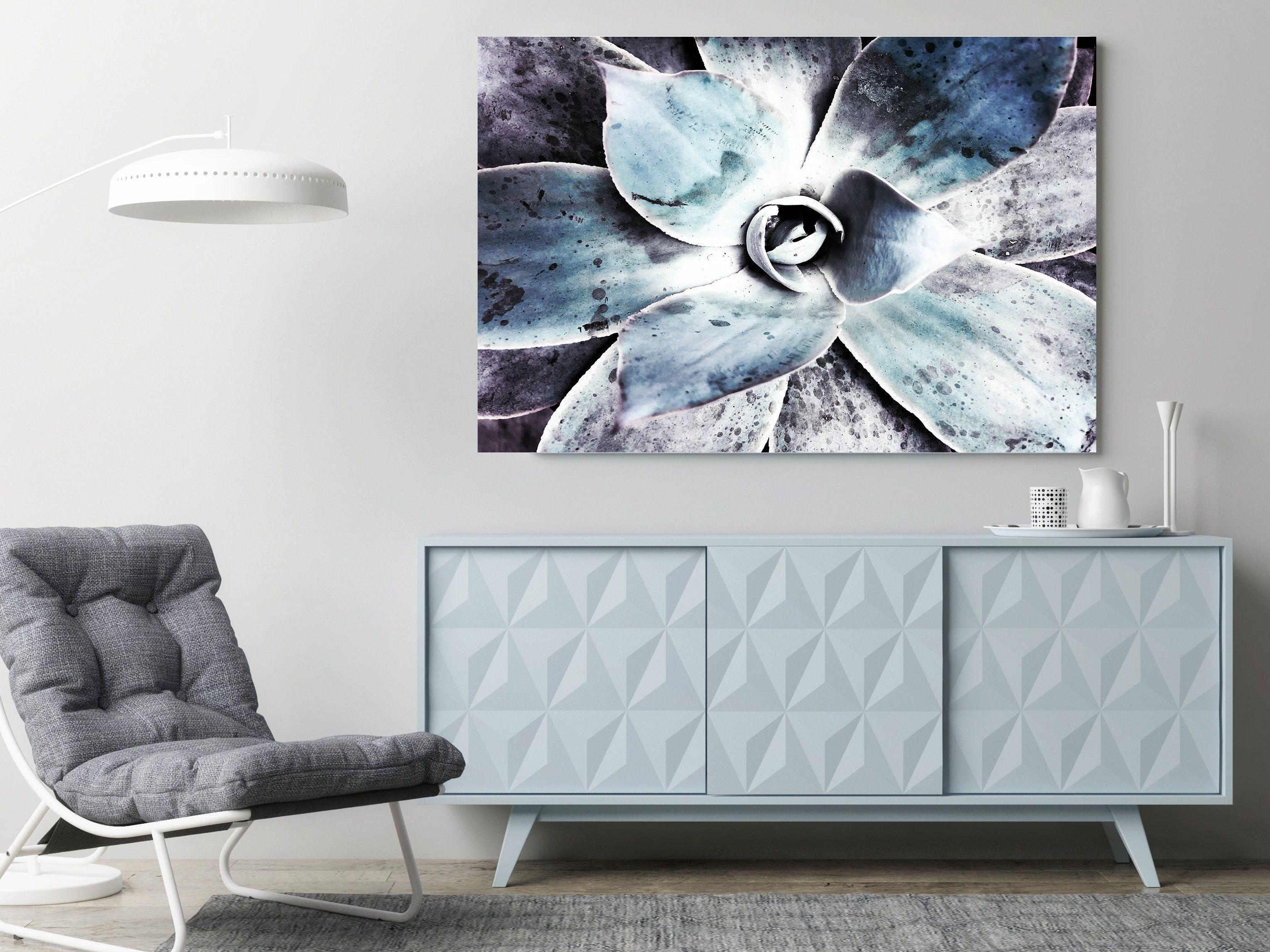 Blue Agave Print Agave Art Agave Canvas Agave Art Print Etsy Succulent Wall Art Tropical Wall Decor Decor