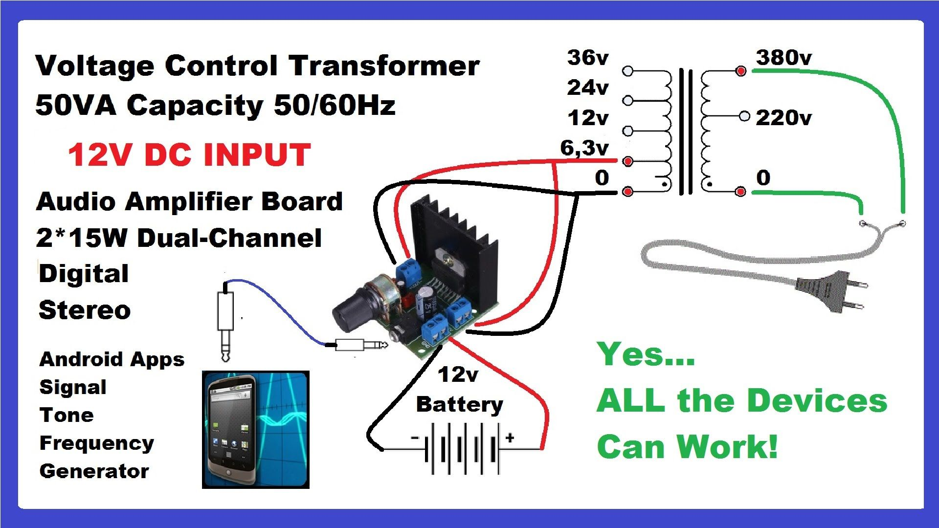 Make Dc To Ac Inverter With Mobile App Audio Amplifier Diy Circuit Voltage Booster Electronic Circuits And Diagram Youtube
