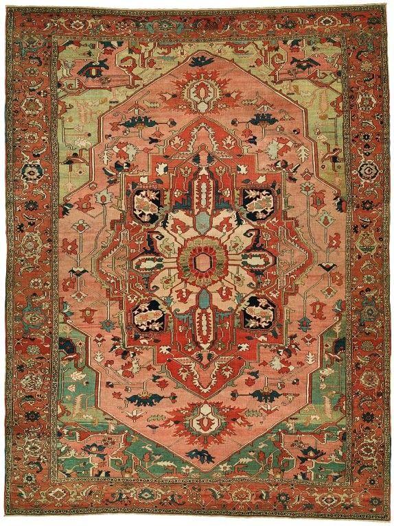 Antique Persian Serapi Rug 1stdibs