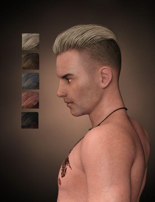 Pompadour Trend Hair For Genesis 3 Male S 3d Models For Poser And Daz Studio Poser Pompadour 3d Model