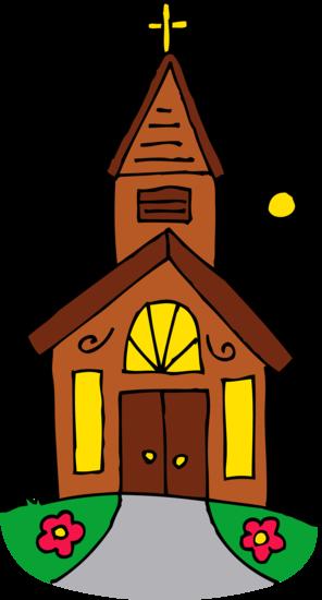 Little Church On A Sunny Day Free Clip Art Free Clip Art Clip Art Art