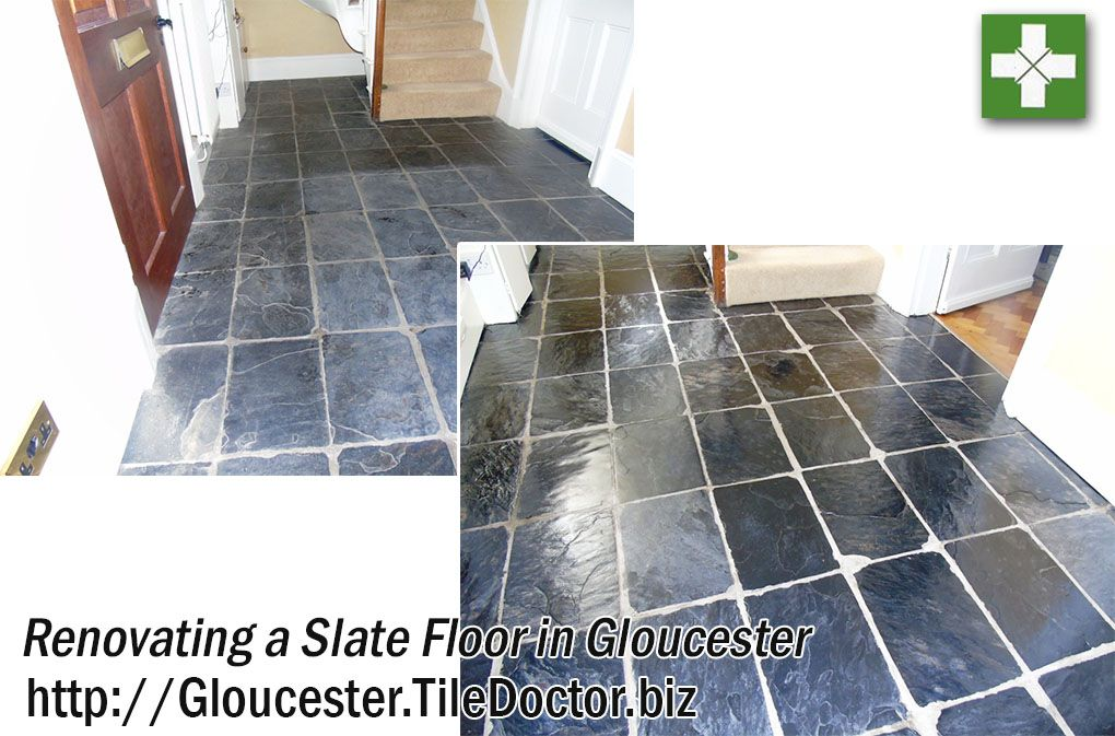 This Slate Tiled Floor In The Hallway Of A Property Gloucester Had Been Laid 28