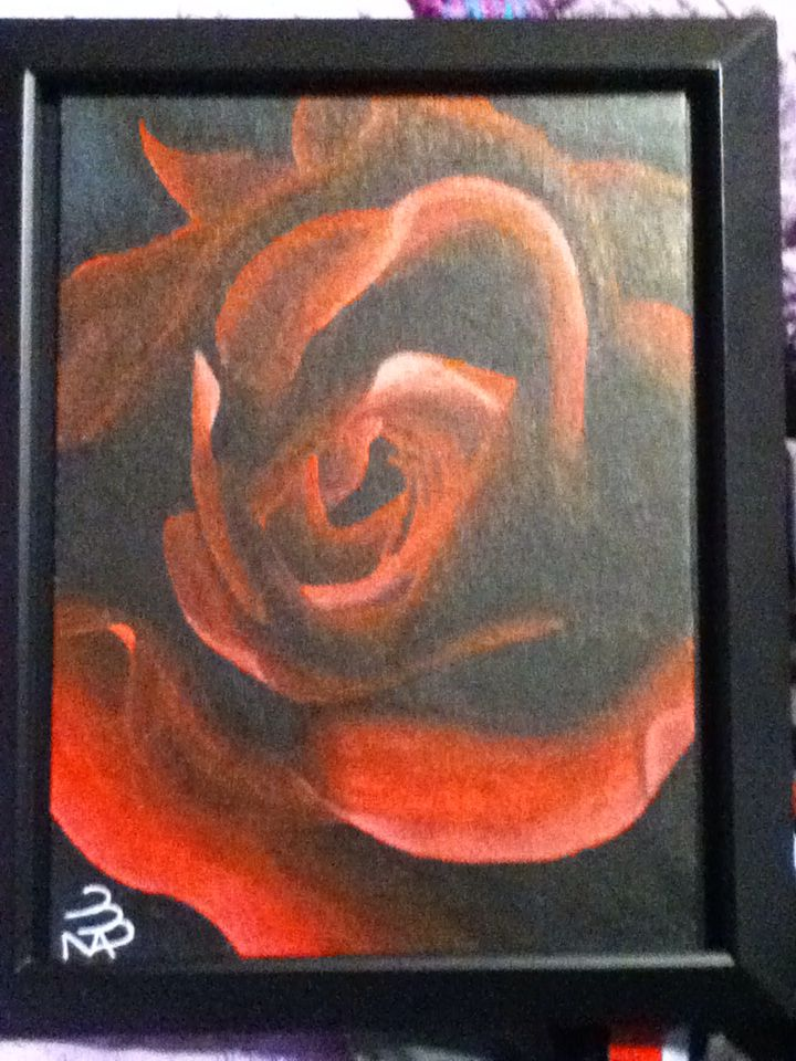 Forgot I even had this picture. I painted this at 4am when I was 13 :) I love this painting
