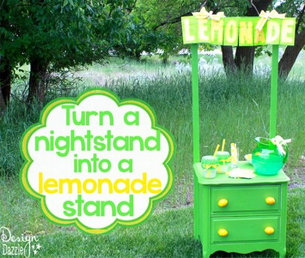 Turn a nightstand into a lemonade stand