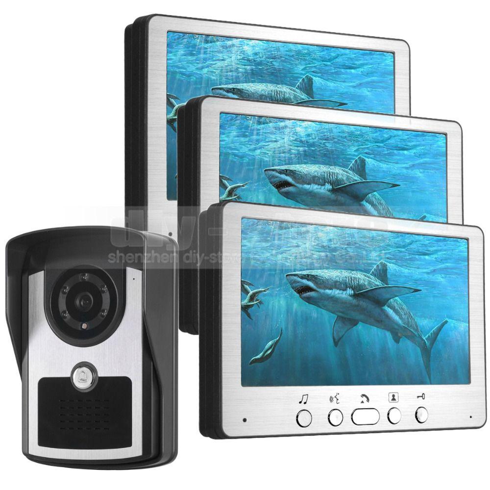 DIYSECUR 7 inch Wired Video Door Phone Doorbell Video Intercom ...