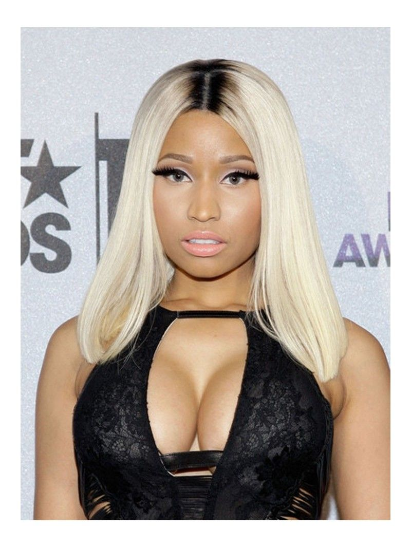 Custom Nicki Minaj Straight Human Hair Full Lace Wig Straight