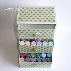 Bettys-creations: Schubladenbox für Stickles
