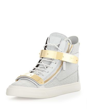 7d387367695e0 Men  s Plated High-Top Sneakers