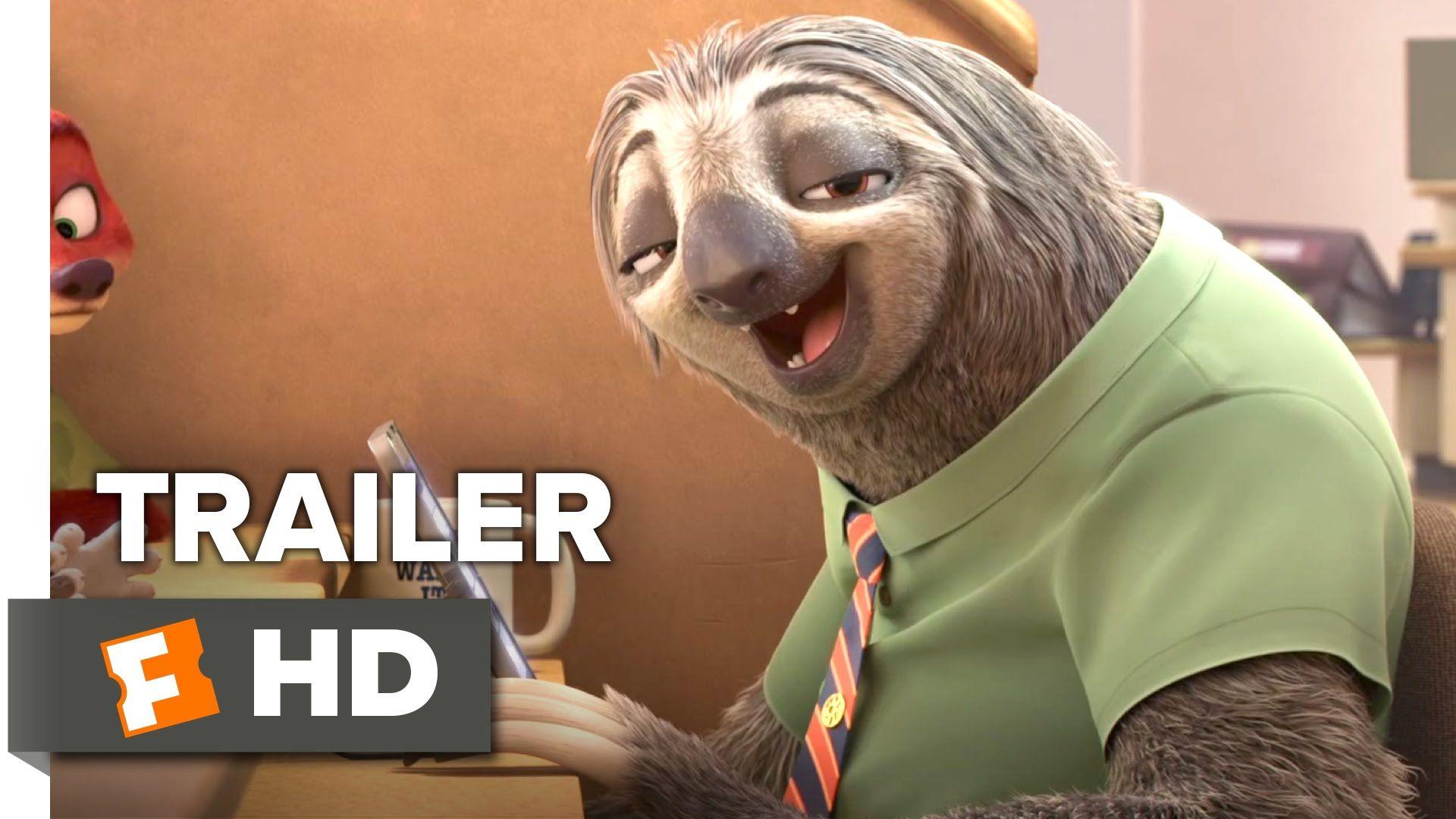 Zootopia Sloth TRAILER 1 (2016) Disney Animated Movie HD