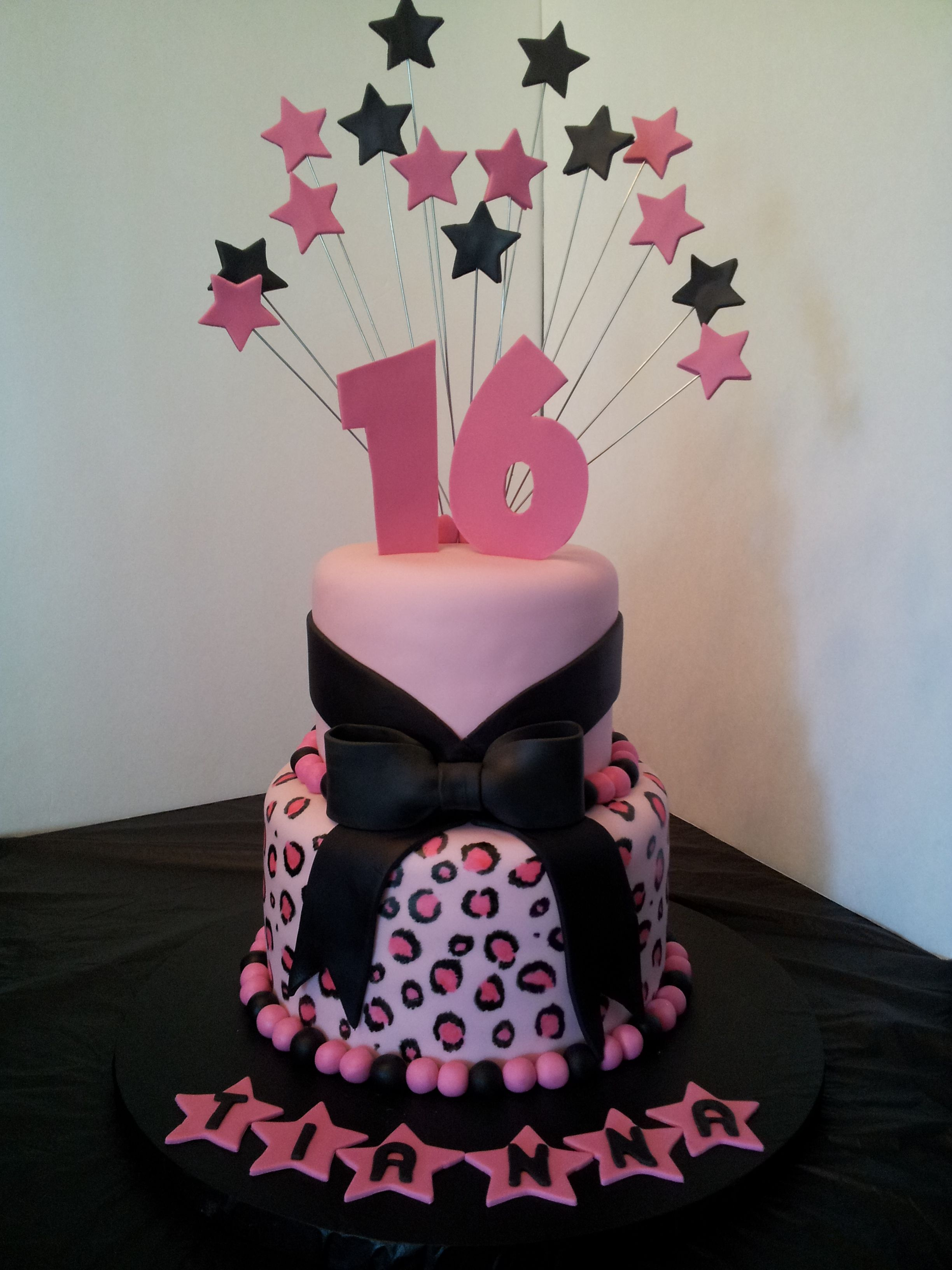 cheetah cake i made for a special 16 year old :) | my cake and