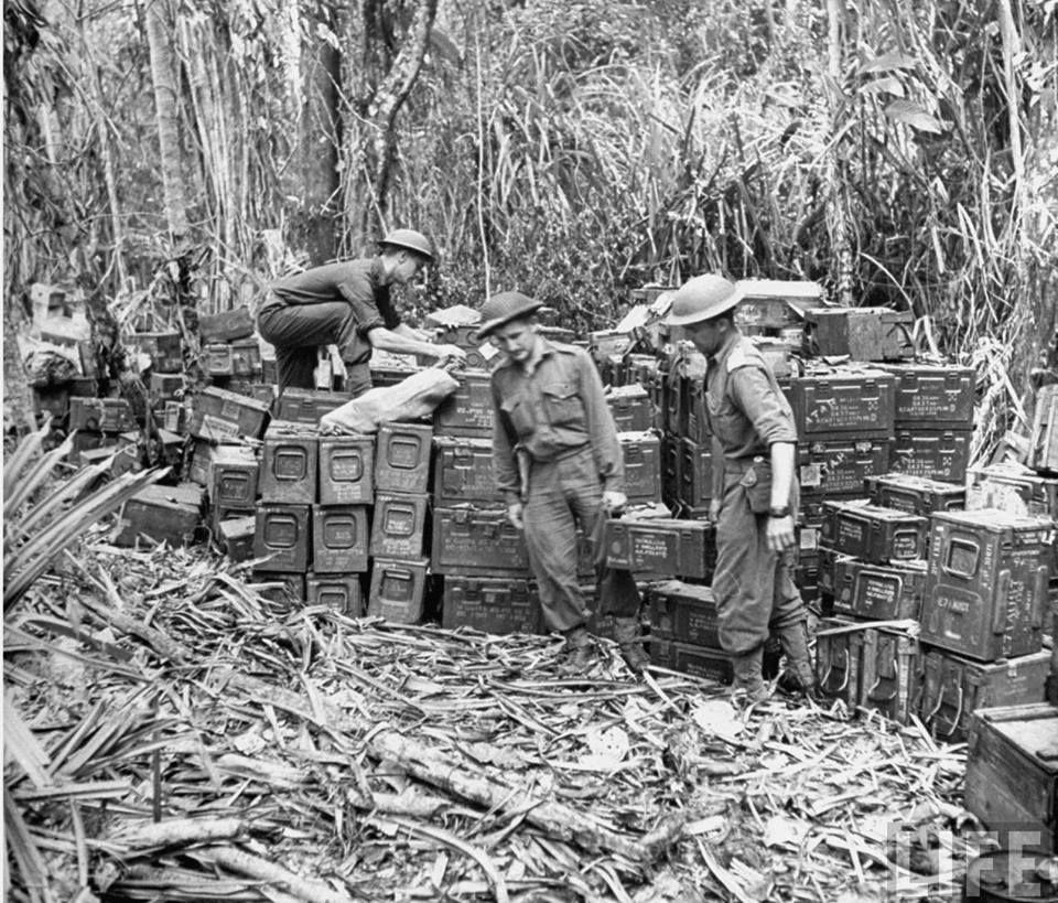 Australia South Pacific: Australian Army Ammo Dump. Lae, New Guinea. September 1943
