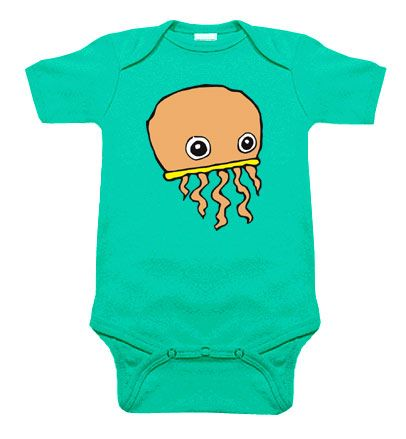 Jellyfish One Piece (aqua)