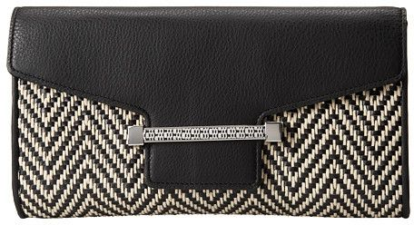 Vince Camuto Julia Two-Tone Flap Compact Clutch