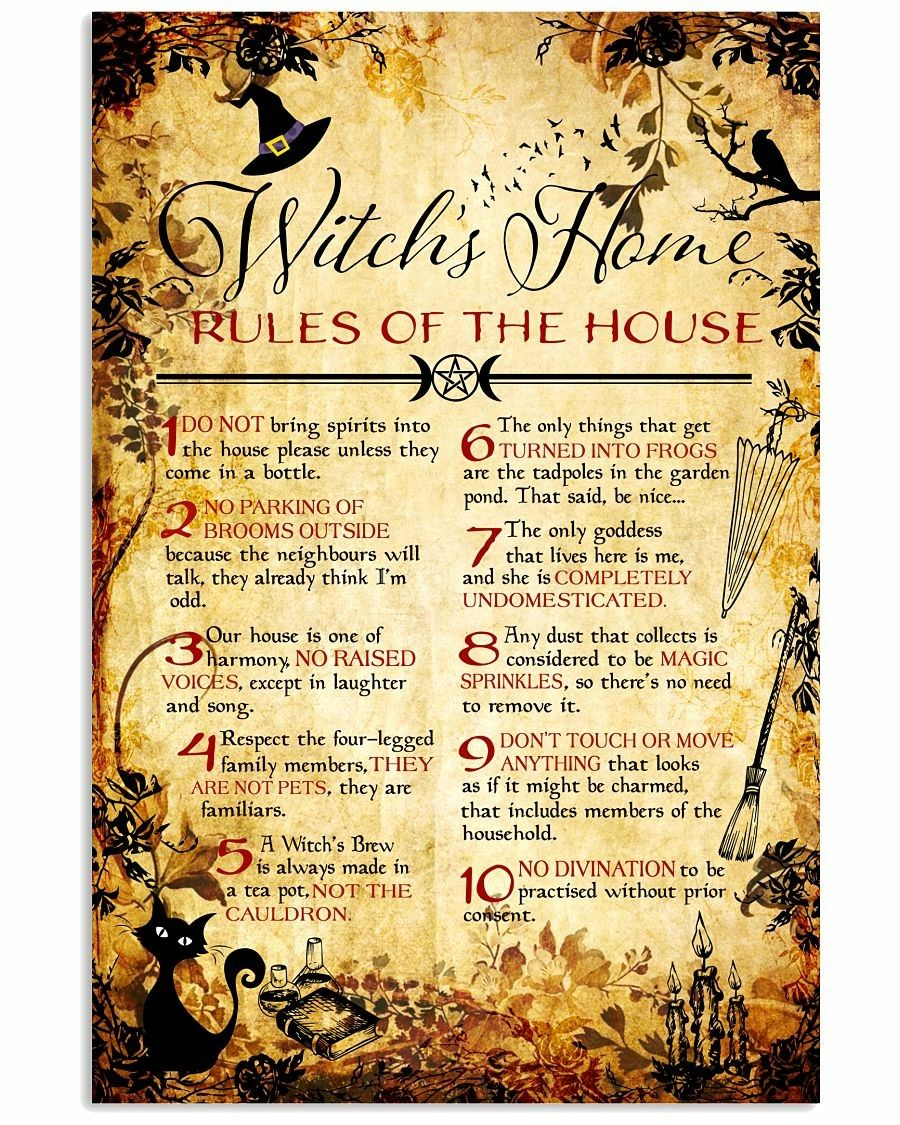 Witches rules  | Wicca | Wiccan crafts, Wiccan rituals