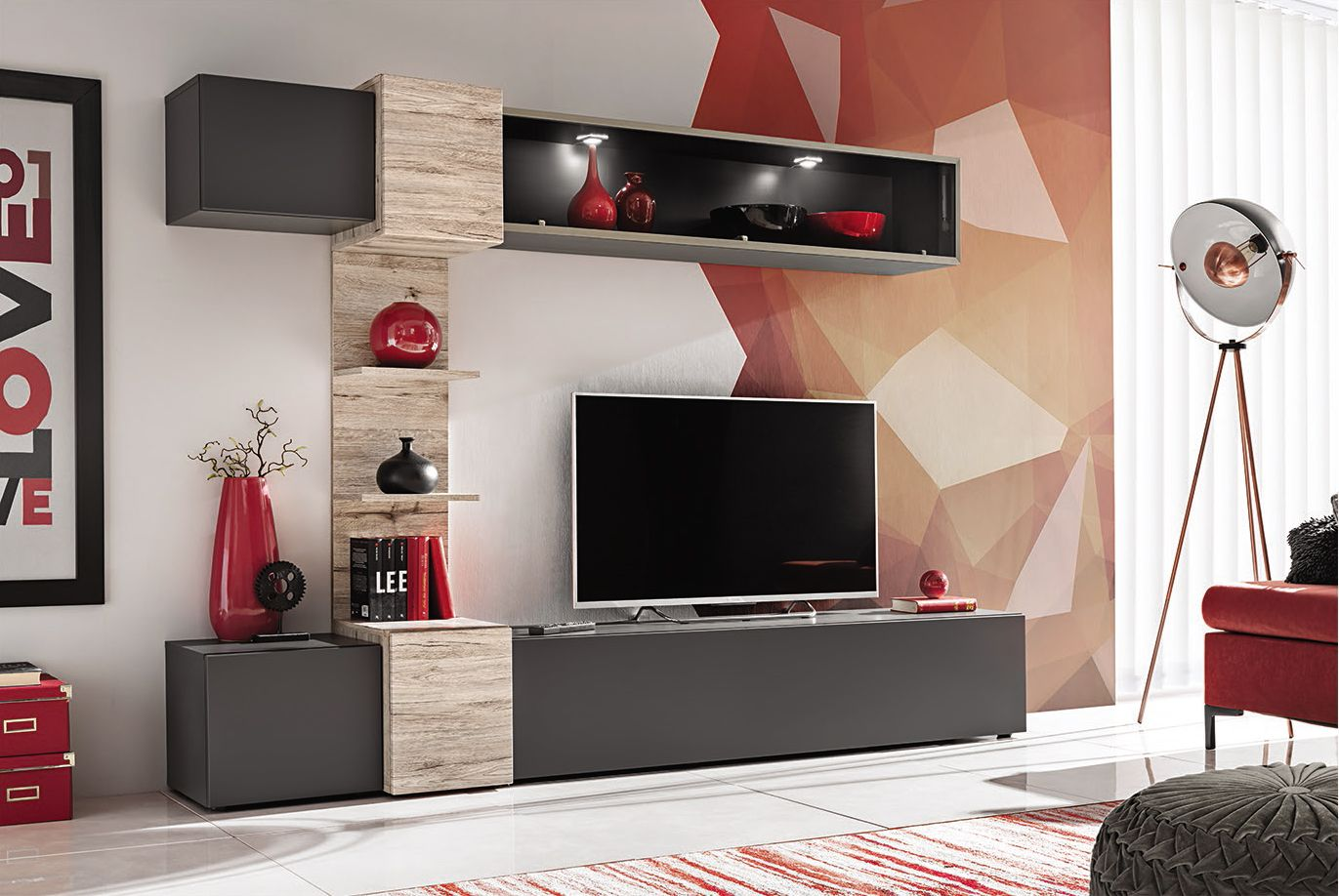 Asrio Modern Tv Wall Unit In 2020 Living Room Wall Units Modern Tv Wall Tv Wall Unit #tv #set #living #room