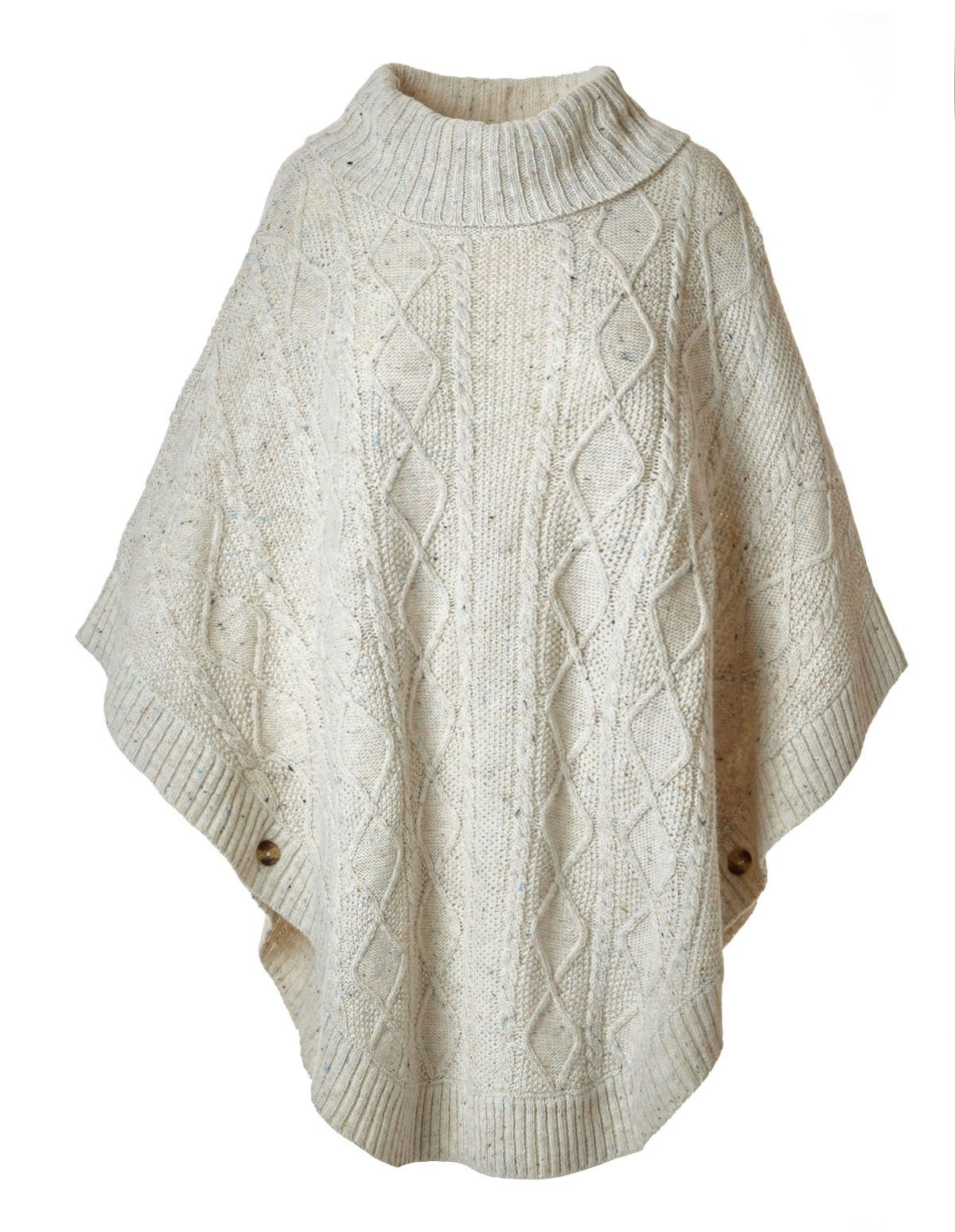 02461b5eb Cleo Latte Cowl Neck Poncho Sweater  29.99  69.90