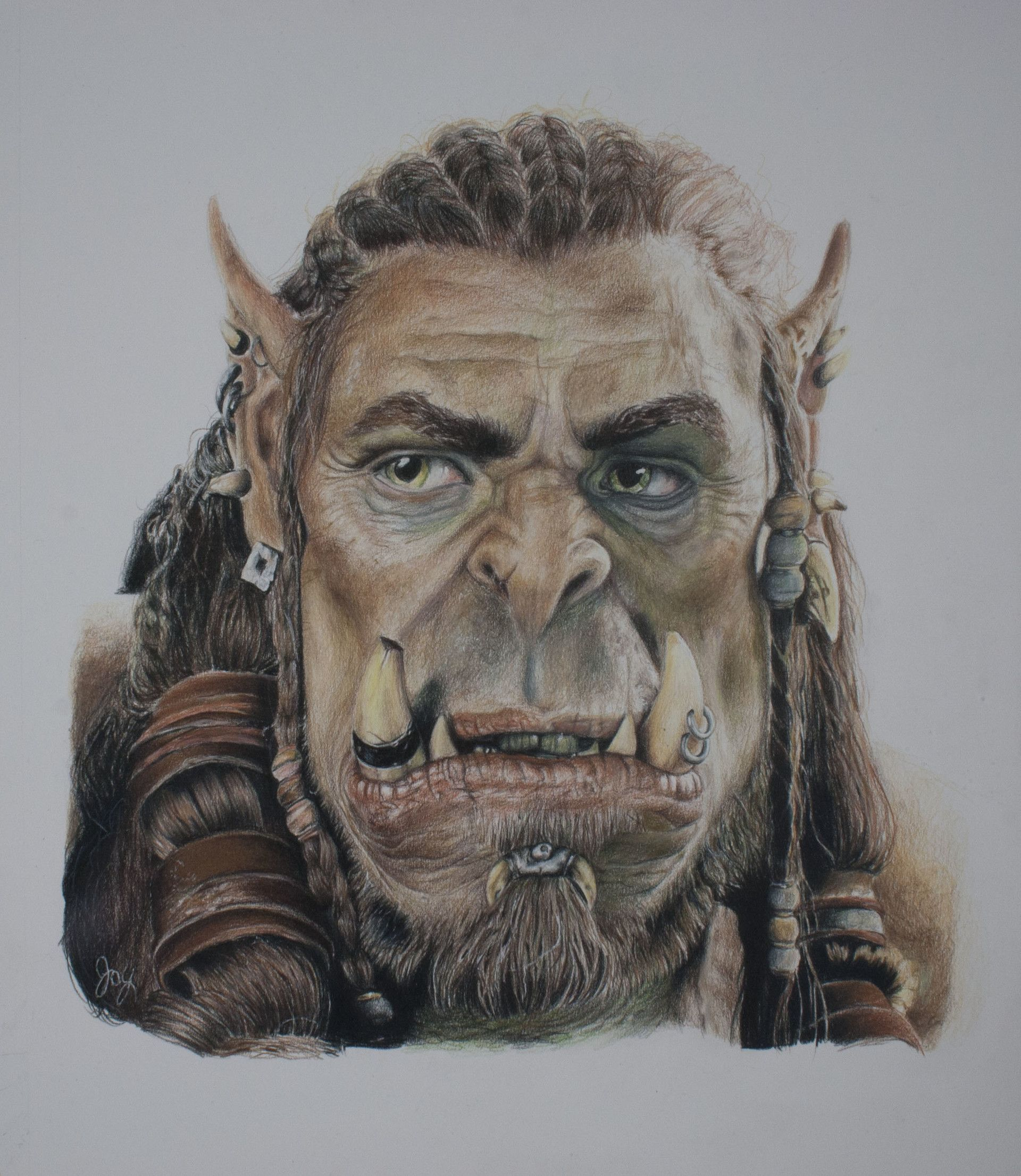 Artstation Durotan Squishie Dragon Warcraft Movie Character Art Drawings