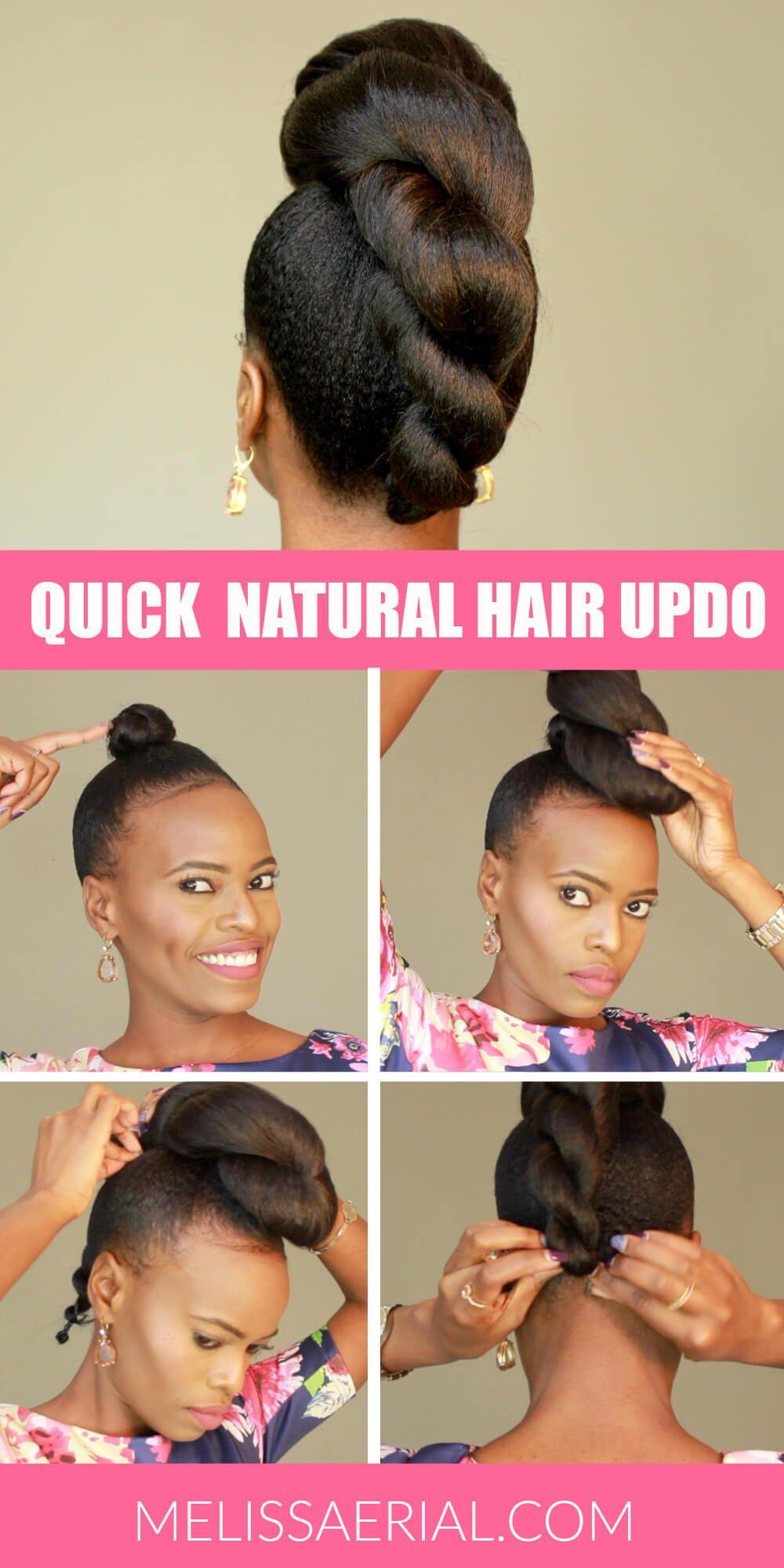 Quick Natural Hair Updo In 2020 Natural Hair Updo Natural Hair
