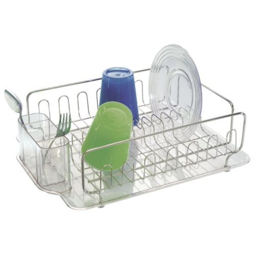 Stainless Steel Kitchen Sink Dish Drainer Drying Rack Tray