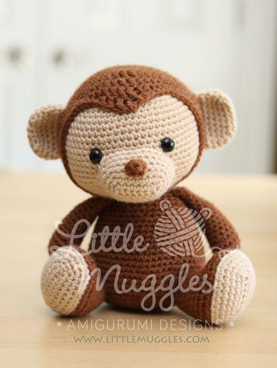 Amigurumi Crochet Pattern - Miles the Monkey | Milla, Los monos y ...