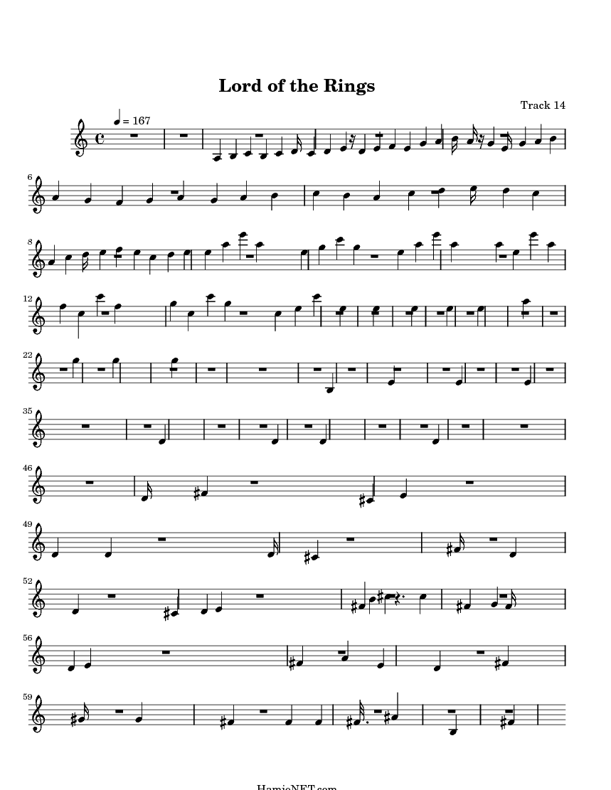lord of the rings sheet music violin