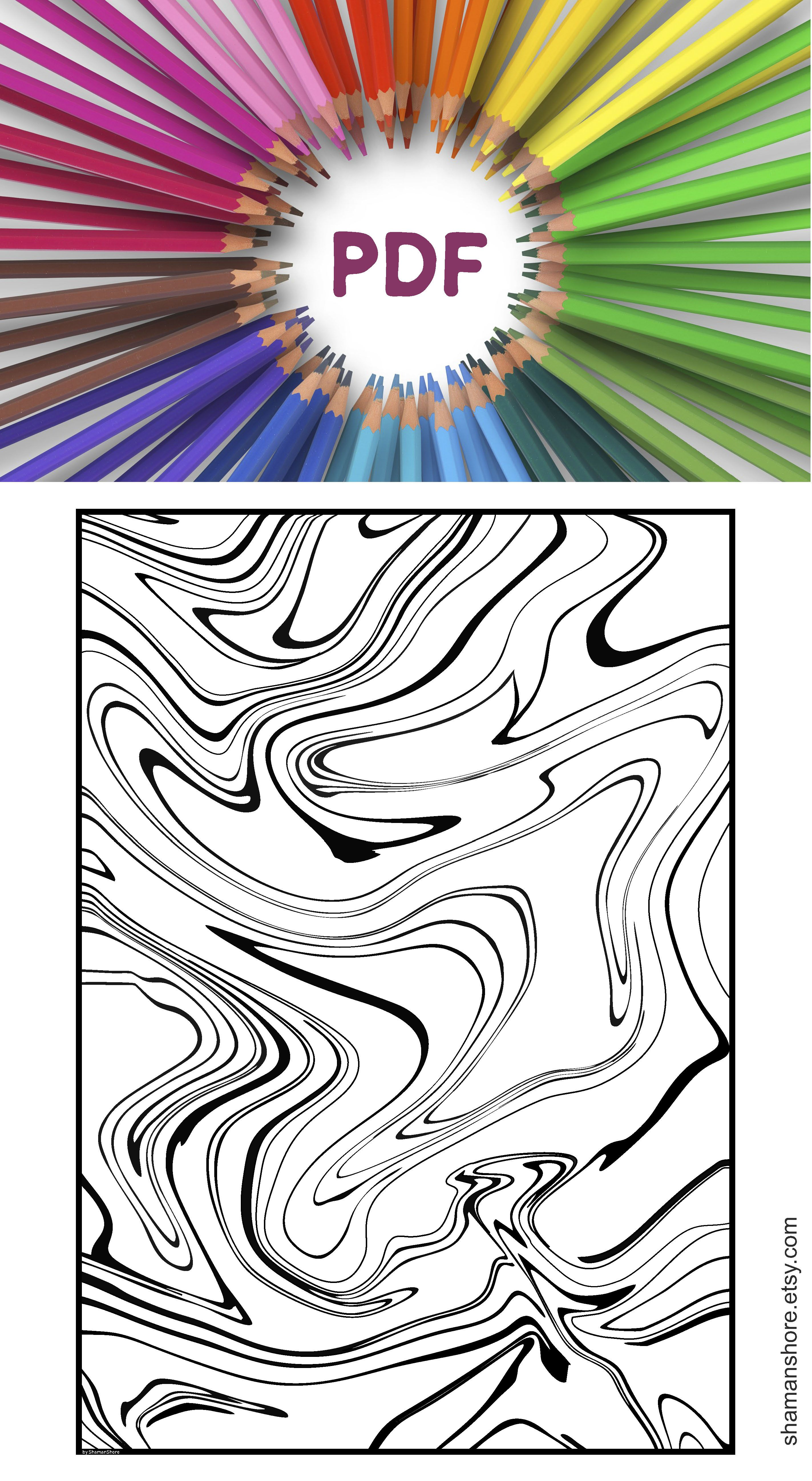 Adult Coloring Book 15 Abstract Coloring Pages Adult
