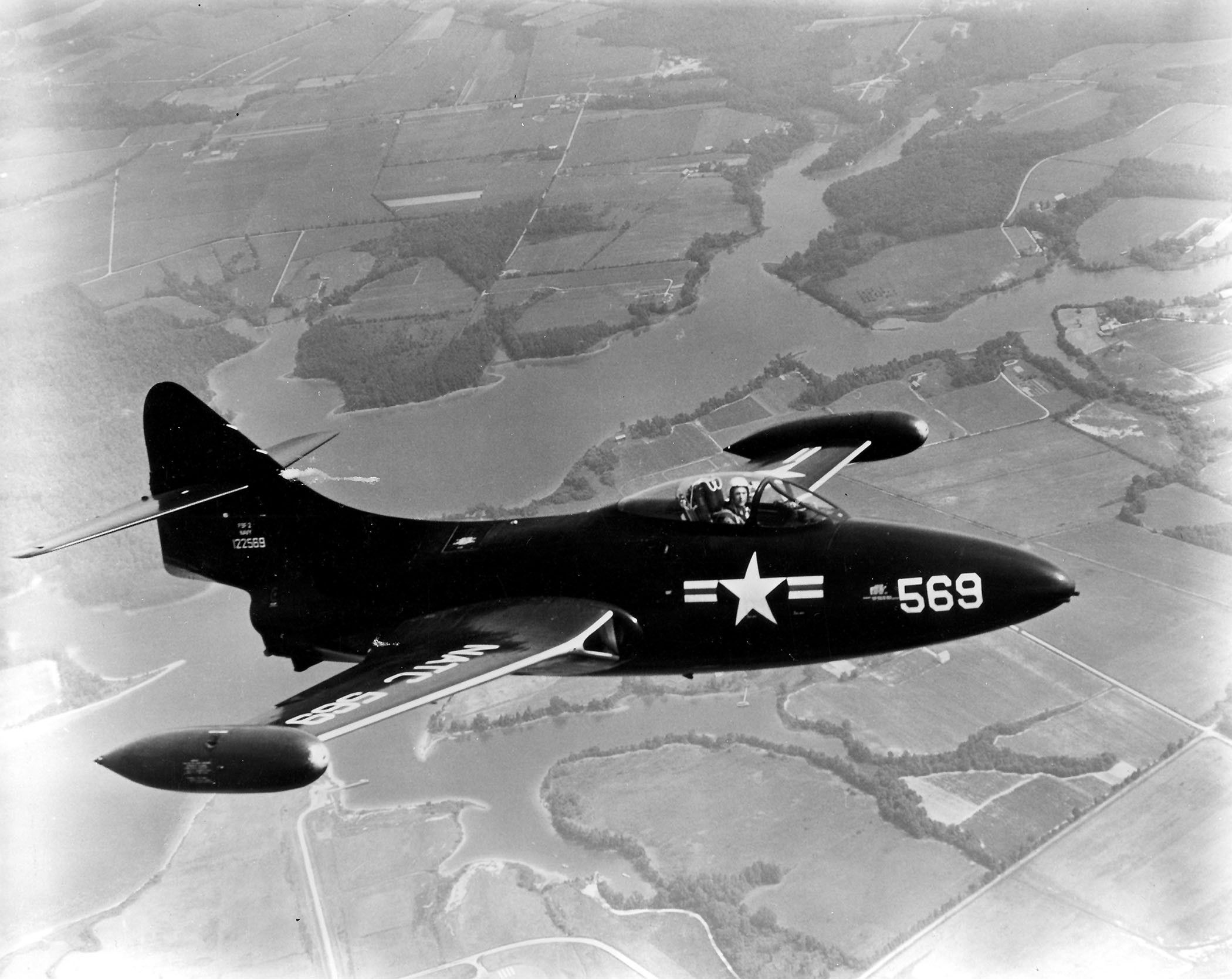The tenth production Grumman F9F2 Panther (BuNo 122569