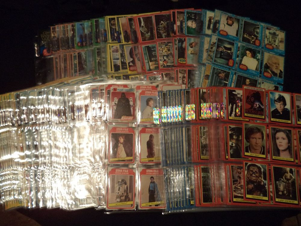 1977 to 1983 star wars trading cards all complete 902