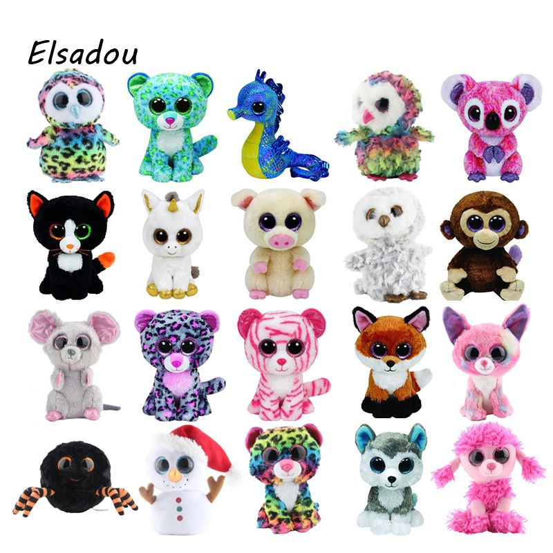 bad1995c77fc Ty Beanie Boos Elephant and Monkey Plush Doll Toys for Girl Rabbit ...