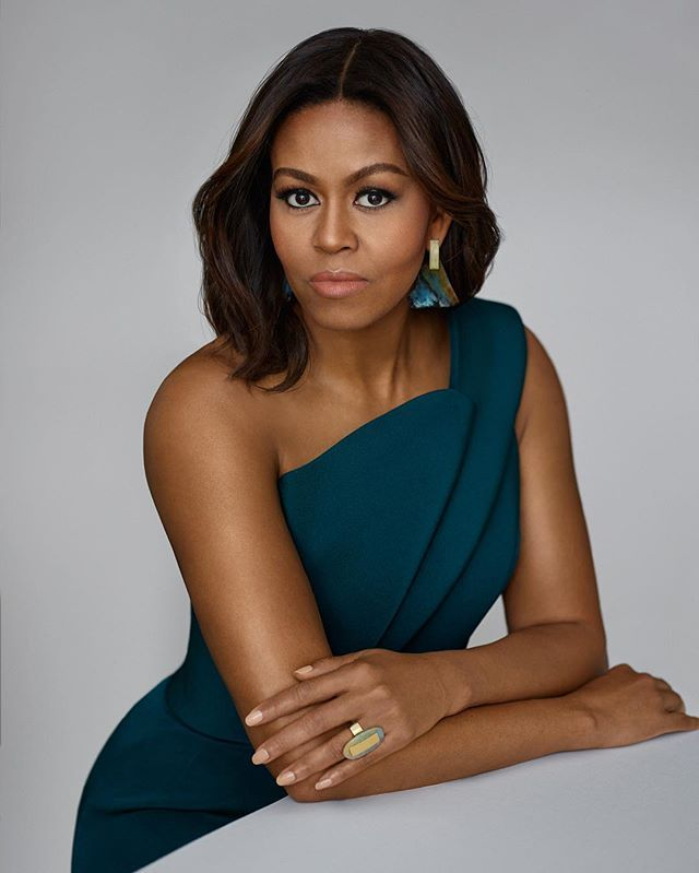 Simply breathtaking. Click the link in our bio to see what First Lady Michelle Obama has to say about her personal style and her daughters' outfits. : @thomaswhiteside; styling: @instylemelissa; hair: @johnnywright220; makeup: @carlraymua ✨#InStyleFLOTUS