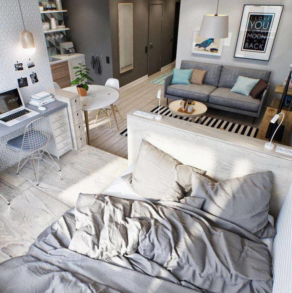 кровать у окна спальня Pinterest квартира студия спальня и дом