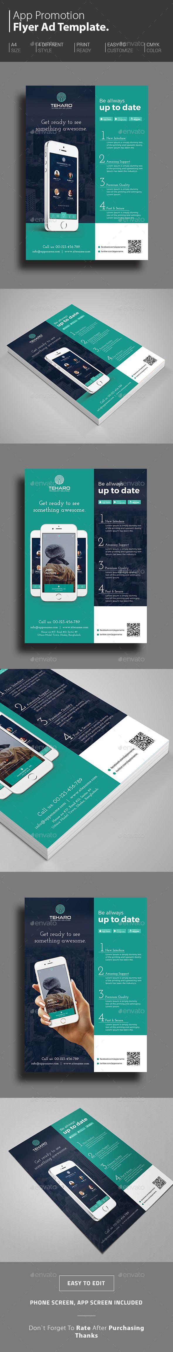 App Promotional Flyer Template PSD. Download here: http://graphicriver.net/item/app-promotional-flyer/14779975?ref=ksioks
