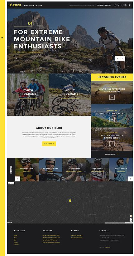Extreme Mountain Bike Club Website Template Themes Business Responsive Websitethemes