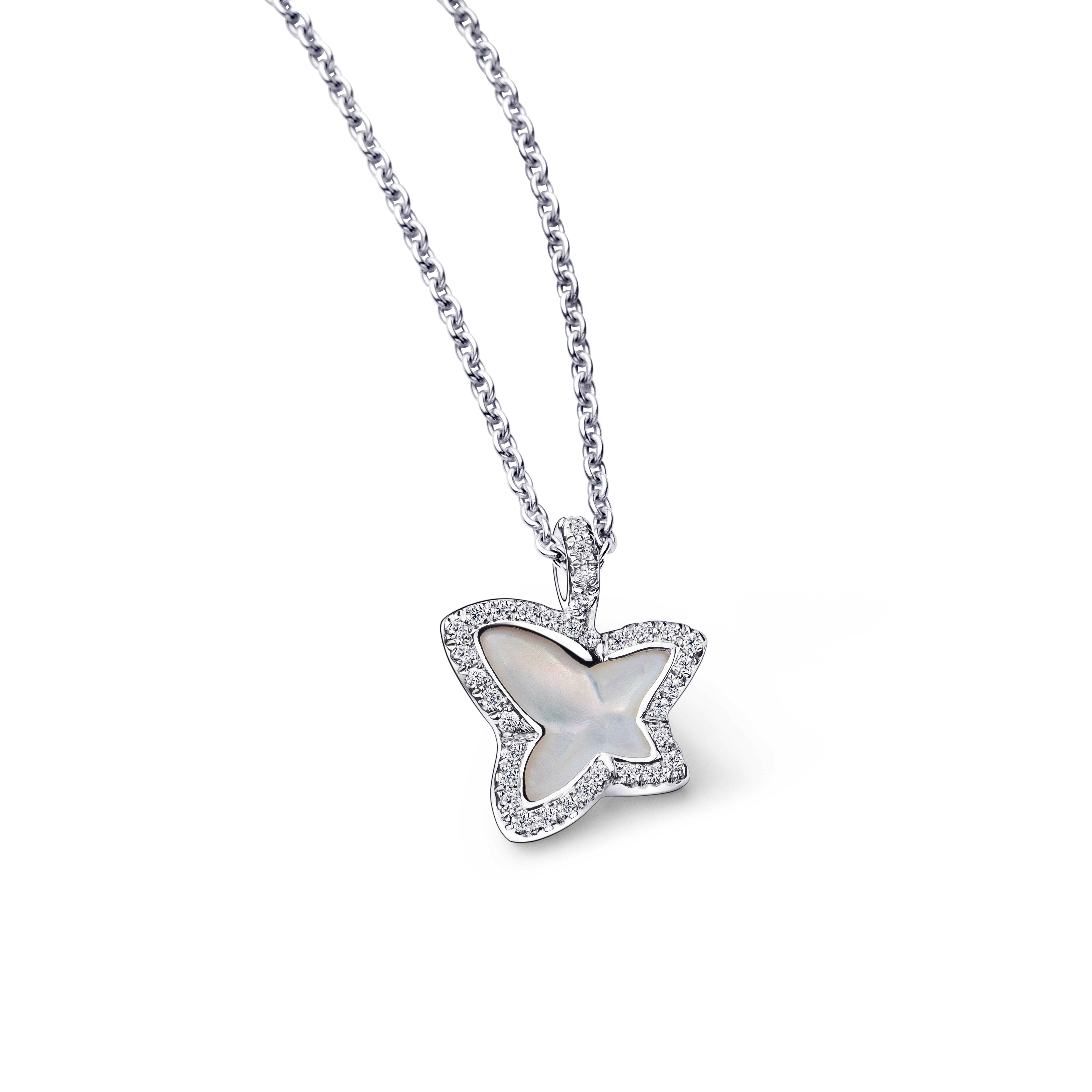 Black Diamond Accented Kitty Collier Pendentif en solide argent sterling
