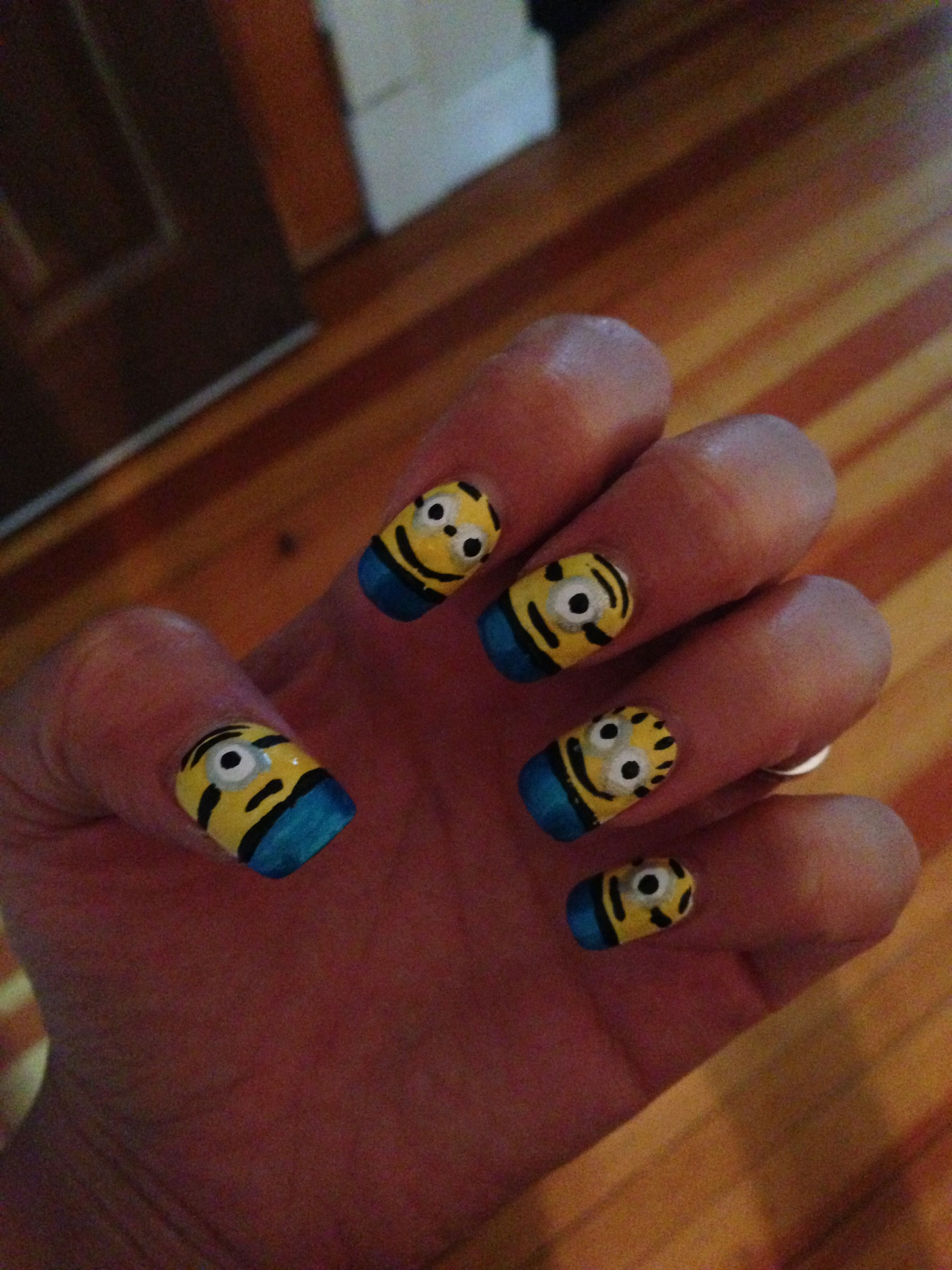 Despicable me minion nail art | My Nail Designs | Pinterest | Minion ...