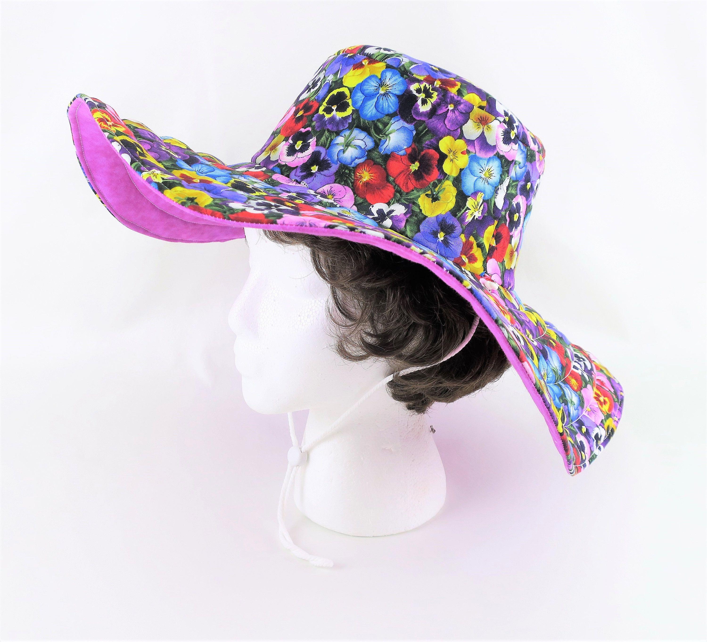 c6bcd20c46738 Pink Floral Handmade Hat